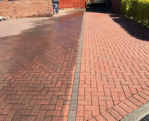 Driveway and patio cleaning in Bilston and Walsall