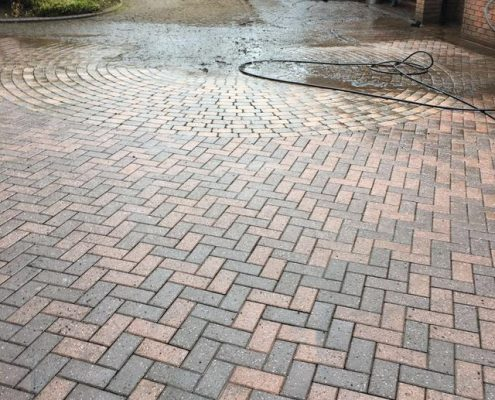 Patio and driveway cleaning services with power wash in Aldridge Walsall